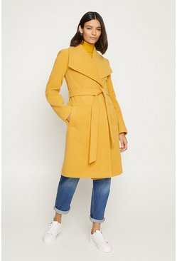 Yellow Wrap Coat