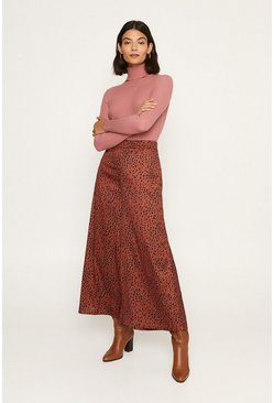 Brown Leopard Wide Leg Trouser