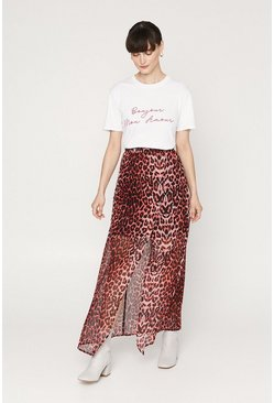 Animal Split Maxi Skirt