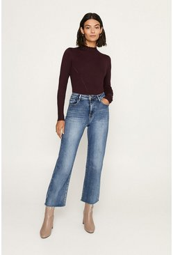 Berry Pretty Formal Scallop Neck Knitted Jumper