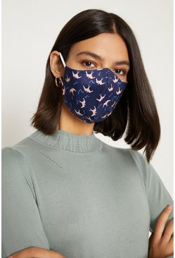 Navy Fashion Face Mask