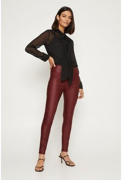 Maroon 3 Button Coated Jean