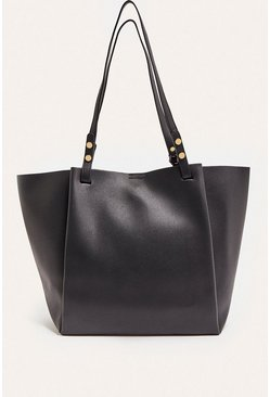 Black Shopper With Removable Purse