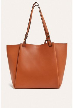 Tan Shopper With Removable Purse