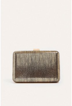 Rose gold Metallic Box Clutch