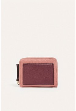 Burgundy Colourblock Wallet