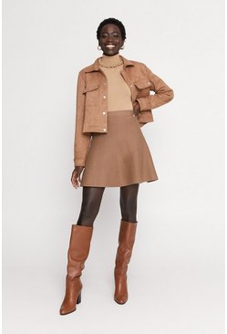 Camel Flippy Mini Skirt