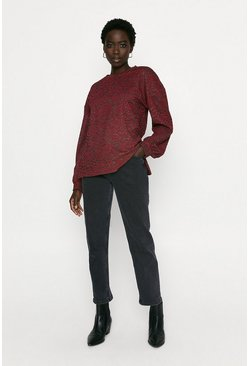 Red Jacquard Sweat