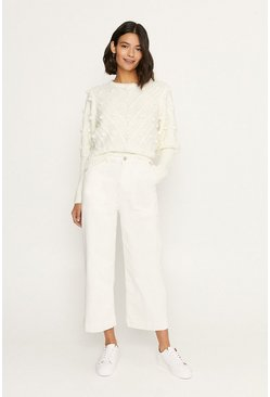 Ivory Bobble Jumper