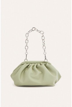 Green Softy Pouch Clutch Bag