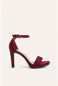 Berry  2 Part High Heel Shoes