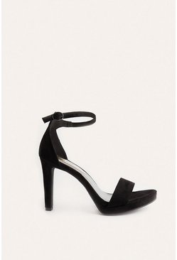 Black  2 Part High Heel Shoes