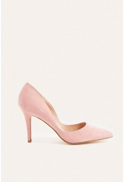 Pale pink Suedette Cut Out Court