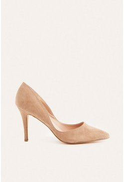 Taupe Suedette Cut Out Court