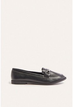 Black Chain Flat Loafer