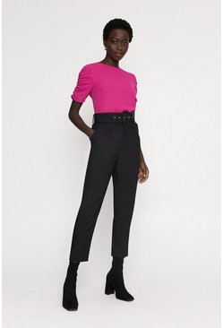 Magenta Ruched sleeve top