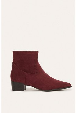 Berry Suedette Ankle Boot