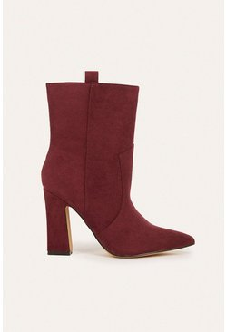 Berry Suedette Mid Calf