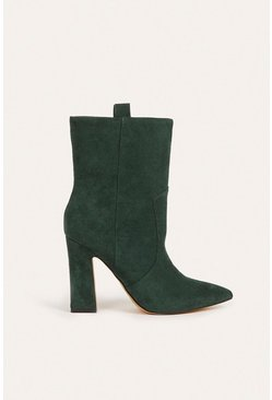 Green Suedette Mid Calf