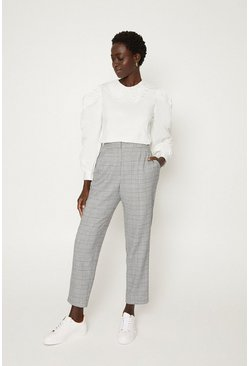 Black Check Suit Trousers