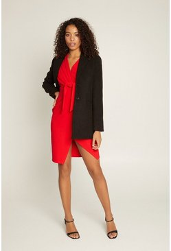 Red Tie Wrap Dress