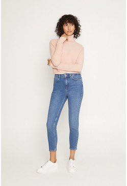 Mid wash Authentic Crop Slim Jean