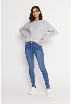 Pale Wash Mid Rise Skinny Jean