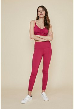 Berry Ruched Back Plain Sports Legging