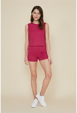 Berry Ruched Side Sports Short