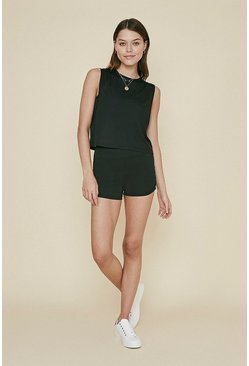 Black Ruched Side Sports Short