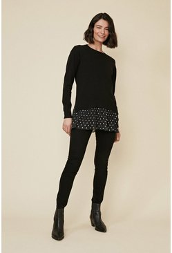 Black Polka Dot Jumper