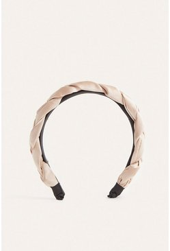 Blush Twisted Satin Headband