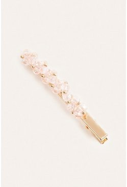 Pink Crystal Embellished Single Hair Slide
