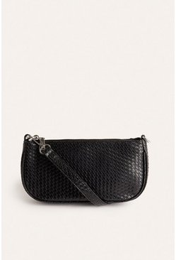 Black Croc Mini Bag
