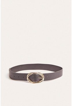 Black Oval Ring Belt