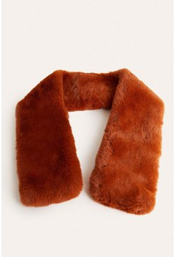 Toffee Faux Fur Scarf