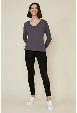 Grey Voop Long Sleeve Top