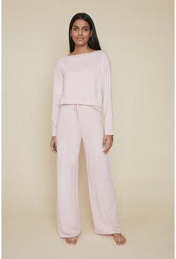 Pink Batwing Loungewear Top