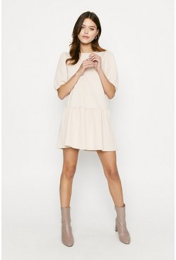 Stone Drop Waist Sweat Dress