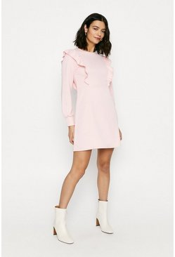 Pink Ruffle Sweat Dress