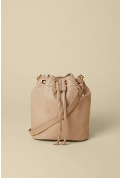 Mink Leather Bucket Bag