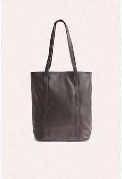 Black Leather Tote Bag