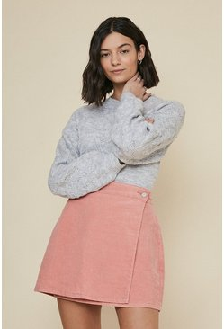 Rose Popper Wrap Skirt