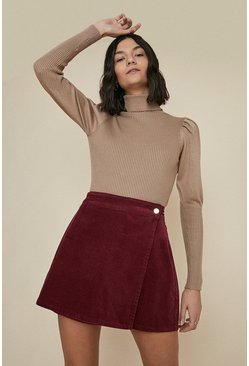 Wine Popper Wrap Skirt