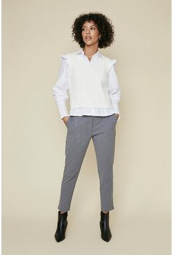 Grey Elastic Back Trouser
