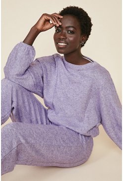 Lilac Supersoft Seam Detail Loungewear Set