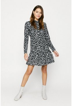 Leopard Printed Cosy Smock Dress