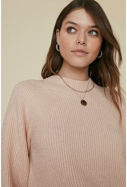 Pink Plain Yarn Jumper