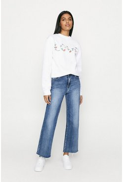 White Love Garland Sweat
