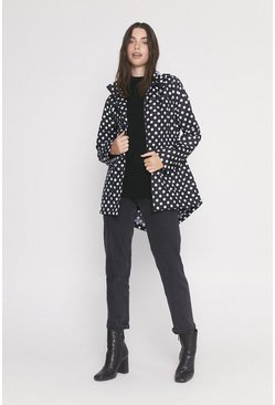 Red Lightweight Spot Raincoat